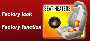 Seat exposing heater elements